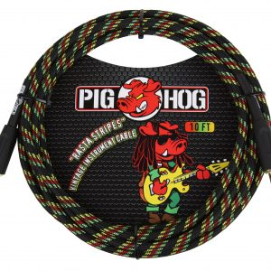 PCH10RA rasta-stripes-instrument-cable-10ft