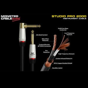 Monster-Studio-Pro-2000-12ft-Angled-to-Straight-Instrument-Cable